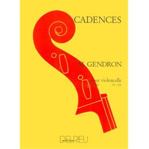 GENDRON MAURICE - CADENCES - VIOLONCELLE