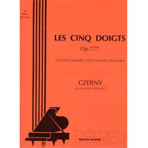 CZERNY CARL - LES 5 DOIGTS OP.777 - PIANO