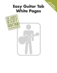 COMPILATION - EASY GUITAR TAB. WHITE PAGES 302 SONGS
