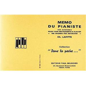 BEUSCHER - MEMO DU PIANISTE DICTIONNAIRE D'ACCORDS PIANO