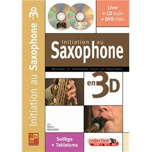 MAUGAIN MANU - INITIATION AU SAXOPHONE EN 3D + CD + DVD