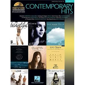 COMPILATION - PIANO PLAY ALONG VOL.019 CONTEMPORARY HITS + CD