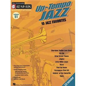 COMPILATION - JAZZ PLAY ALONG VOL.051 UP TEMPO JAZZ + CD