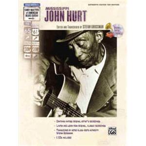 HURT JOHN - MISSISSIPPI MASTERSCOUNTRY BLUES TAB. + CD