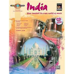 JAIN SUNNY - INDIA YOUR PASSPORT TO A NEW WORLD OF MUSIC DRUM ATLAS INDIA + CD