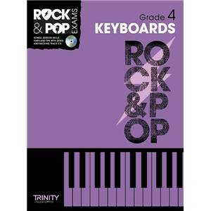 COMPILATION - TRINITY COLLEGE LONDON : ROCK & POP GRADE 4 FOR KEYBOARD + CD