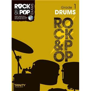 COMPILATION - TRINITY COLLEGE LONDON : ROCK & POP GRADE 1 FOR DRUMS + CD