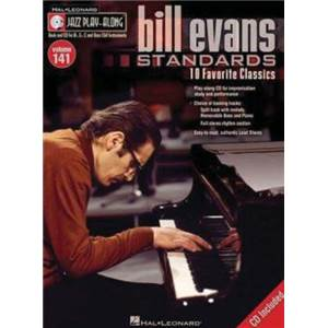 EVANS BILL - JAZZ PLAY-ALONG VOL.141 STANDARDS + CD Épuisé