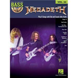MEGADETH - BASS PLAY-ALONG VOL.44 + CD