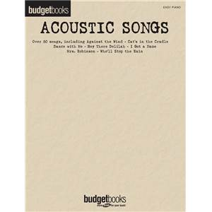 COMPILATION - BUDGETBOOK ACOUSTIC SONGS 50 SONGS EASY PIANO/V/G