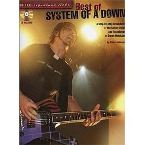 SYSTEM OF A DOWN - BEST OF GUITAR SIGNATURE LICKS + CD