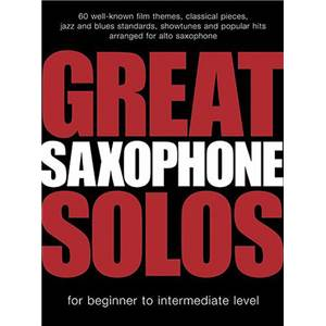 COMPILATION - GREAT SAXOPHONE SOLOS 60 THEMES FOR ALTO SAX