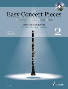 EASY CONCERT PIECES VOL.2 +CD - CLARINETTE SIB ET PIANO