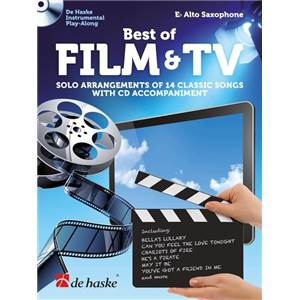 COMPILATION - BEST OF FILM & TV SOLO ARRANGEMENTS OF 14 CLASSIC SONGS WITH CD EB ALTO SAXO +CD