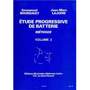 BOURSAULT/LAJUDIE - ETUDE PROGRESSIVE DE BATTERIE VOL.2