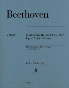 BEETHOVEN - SONATE No24 OP.78 EN FA# MAJEUR DITE A THERESE - PIANO