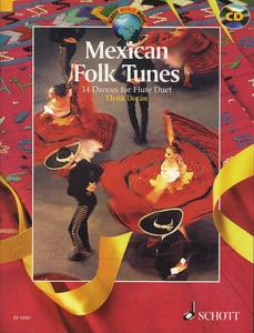 MEXICAN FOLK TUNES (14 DANSES MEXICAINES) + CD - FLUTES (2)