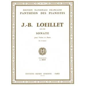 LOEILLET JB - SONATE RE MAJ. - VIOLON ET PIANO