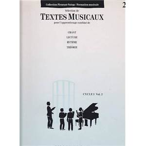 FLEURANT/VOIRPY - TEXTES MUSICAUX CYCLE 1 VOL.2 - FORMATION MUSICALE