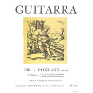 DOWLAND JOHN - PIECES (2) M.HENRY NOEL HIS GALLIARD / SIR HENRY HUMPTON'S FUNERAL - GUITARE