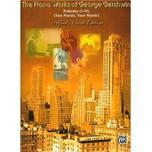 GERSHWIN GEORGE - PRELUDES 1 A 3 POUR 2 PIANOS OU 4 MAINS