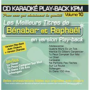 BENABAR / RAPHAEL - CD KARAOKE VOL.10 AVEC CHOEUR + VERSIONS CHANTEES