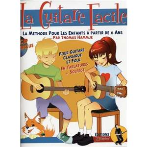 HAMMJE THOMAS - GUITARE FACILE METHODE POUR ENFANTS + CD