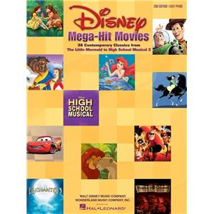 DISNEY - MEGA-HIT MOVIES 38 CONTEMPORAY CLASSICS EASY PIANO