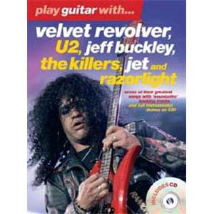 COMPILATION - VELVET REVOLVER, U2, BUCKLEY... PLAY GUITAR WITH TAB. + CD
