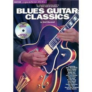 COMPILATION - BLUES GUITAR CLASSICS SIGNATURE LICKS TAB. + CD