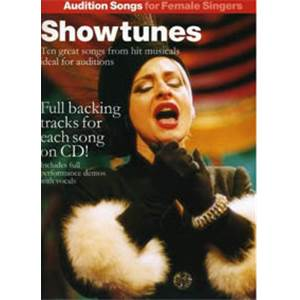 COMPILATION - AUDITION SONGS SHOWTUNES FEMALE SINGERS + CD