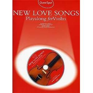 COMPILATION - GUEST SPOT NEW LOVE SONGS PLAY ALONG FOR VIOLIN + CD