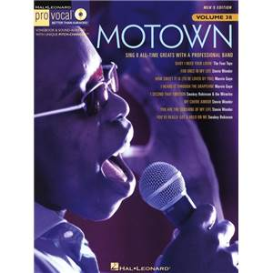 COMPILATION - PRO VOCAL FOR MALE SINGERS VOL.38 MOTOWN + CD