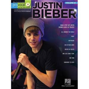 BIEBER JUSTIN - PRO VOCAL FOR MALE SINGERS VOL.64 + CD
