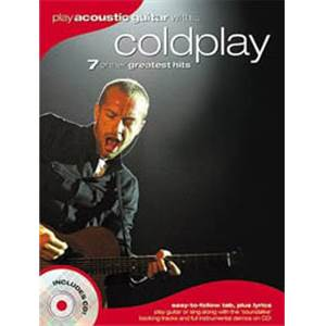 COLDPLAY - PLAY ACOUSTIC GUITAR WITH... TAB. + CD