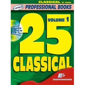 COMPILATION - 25 CLASSICALS FOR EB INSTRUMENTS VOL.1 + CD