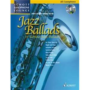 COMPILATION - JAZZ BALLADS FOR ALTO SAXOPHONE (MIB) + CD