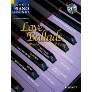 LOVE BALLADS (ARRANGEMENTS DE GERLITZ CARSTEN) +CD - PIANO