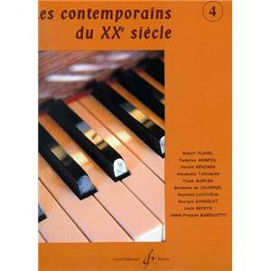 COMPILATION - LES CONTEMPORAINS DU XXE SIECLE VOL.4 POUR PIANO