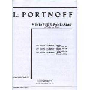 PORTNOFF LEO - FANTAISIE RUSSE NO.2 RE MIN VIOLON/PIANO
