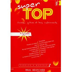 COMPILATION - SUPER TOP VOL.1 CLAVIERS GUITARE ET TOUS INSTRUMENTS 50 HITS
