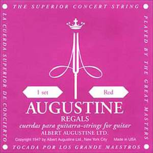 JEU CORDES GUITARE CLASSIQUE AUGUSTINE REGAL ROUGE TIRANT NORMAL