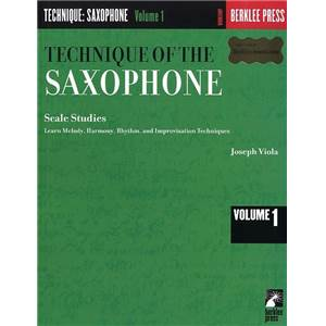 VIOLA JOSEPH - TECHNIQUE OF THE SAXOPHONE VOL.1 SCALE STUDIES BERKLEE
