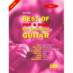 COMPILATION - BEST OF POP ET ROCK FOR CLASSICAL GUITAR VOL.3