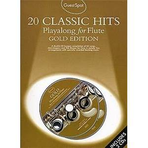COMPILATION - GUEST SPOT 20 CLASSIC HITS PLAY ALONG FOR FLUTE + 2CDS