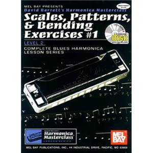 BARRETT DAVID - HARMONICA SCALES PATTERNS AND BENDING EXERCICES VOL.1 + CD
