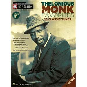 MONK THELONIOUS - JAZZ PLAY ALONG VOL.091 + CD