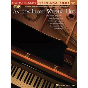 WEBBER ANDREW LLOYD - EASY PIANO CD PLAY ALONG VOL.22 HITS + CD