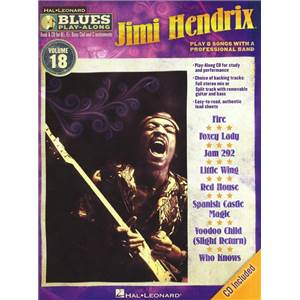HENDRIX JIMI - BLUES PLAY ALONG VOL.18 + CD