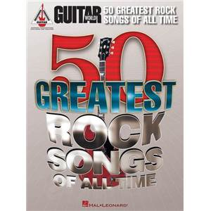 COMPILATION - GUITAR WORLD MAGAZINE : 50 GREATEST ROCK SONGS OF ALL TIME GUIT. TAB.